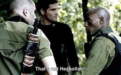 Screenshot from the trailer of the new Israeli horror movie 'Cannon Fodder,' depicting an unlikely alliance between Israel and Hezbollah as they fight off zombies.