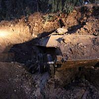 Russian tank from World War II era found in Holon July 2, 2013. (Photo credit: Israel Police/Facebook)