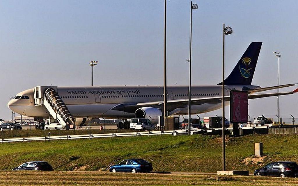 Saudi airline cancels contract after plane taken to Israel