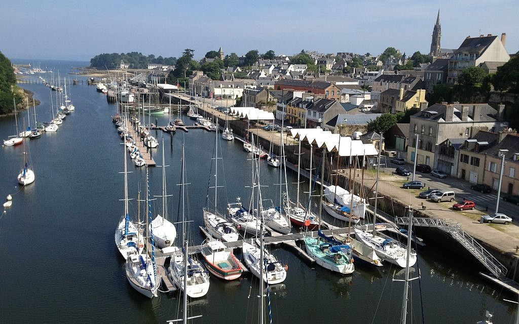 The city of Douarnenez, famous for its sardine canning industry (photo credit: Elhanan Miller/Times of Israel)