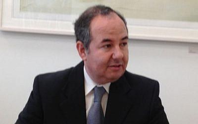 Zvi Tal, the number two Israeli diplomat in Paris (photo credit: Elhanan Miller/Times of Israel)