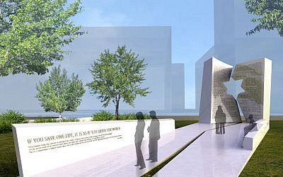 Renderings of the Ohio Holocaust memorial design. (photo credit: courtesy of Studio Daniel Libeskind)