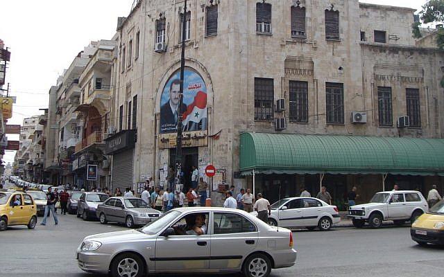 A street corner in the majority Alawite city of Latakia (photo credit: CC BY-Yazan Badran/Flickr)
