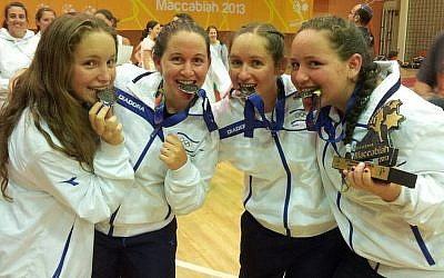 The Komar sisters with their Maccabiah netball medals (photo credit: courtesy)
