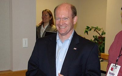 Sen. Chris Coons. (photo credit: CC BY Mathplourde, Flickr)