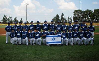 Israel's baseball team at the 19th Maccabiah (photo credit: Maccabia/via Facebook)