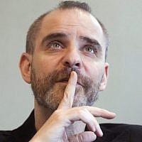 Author David Rakoff during an interview in Toronto, 2010 (Frank Gunn/AP Photo/The Canadian Press)