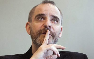 Author David Rakoff during an interview in Toronto, 2010 (Frank Gunn/AP Photo/The Canadian Press)