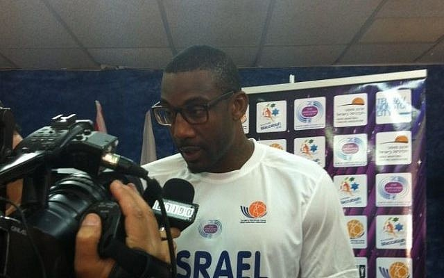 New York Knicks star Amare Stoudamire ahead of the Maccabia men's basketball tournament (photo credit: Raphael Geller, Times of Israel)