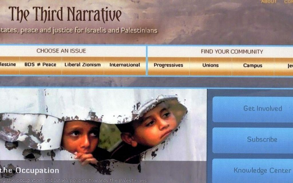 Home page for the website The Third Narrative. (photo credit: courtesy)