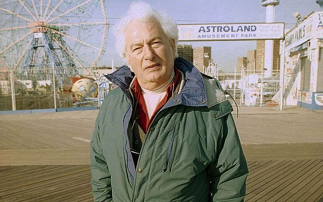 This 1998 file photo shows author Joseph Heller along the Coney Island boardwalk in the Brooklyn borough of New York. (photo credit: AP Photo/Todd Plitt, File)