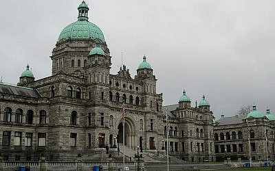 British Columbia's provincial Parliament building in Victoria, BC (photo credit: CC BY-SA, Another Believer, Wikimedia Commons)