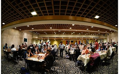 Chess games at Jerusalem's Dan Hotel on Mount Scopus (photo credit: Courtesy Yana Rotner)