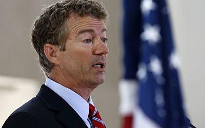 Republican Senator Rand Paul of Kentucky (photo credit: AP/Charles Dharapak/File)