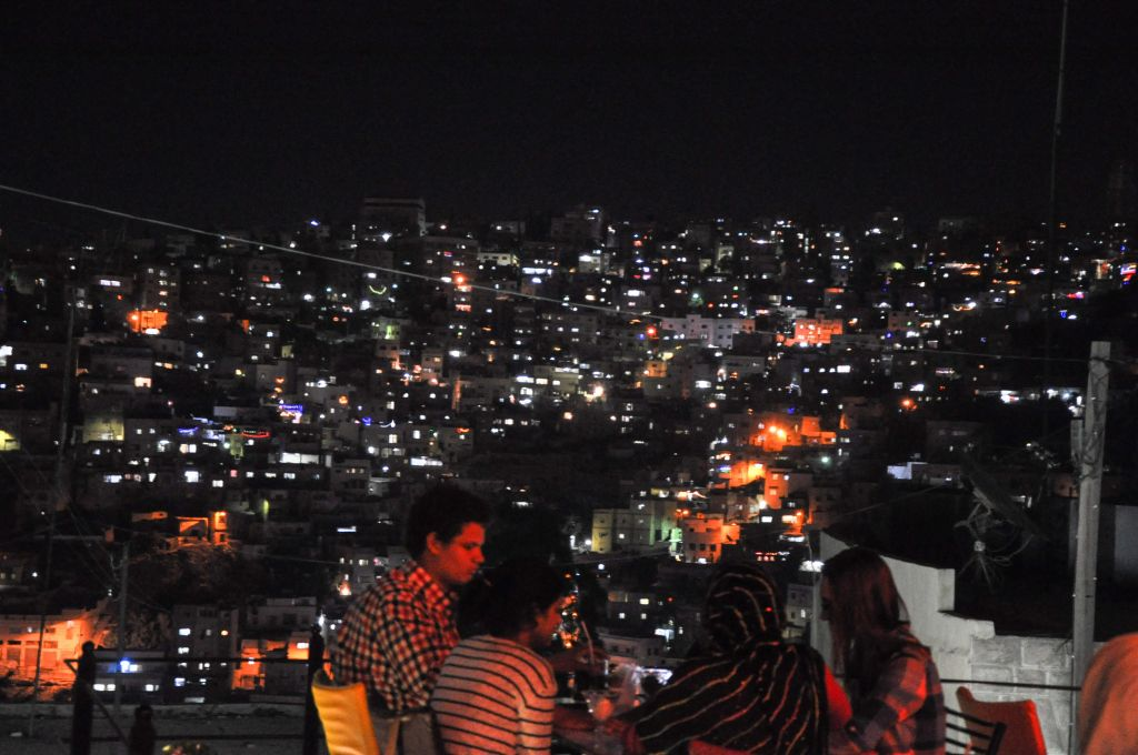 A view of East Amman from a cafe in the Western part of the city (photo credit: Michal Shmulovich/Times of Israel)