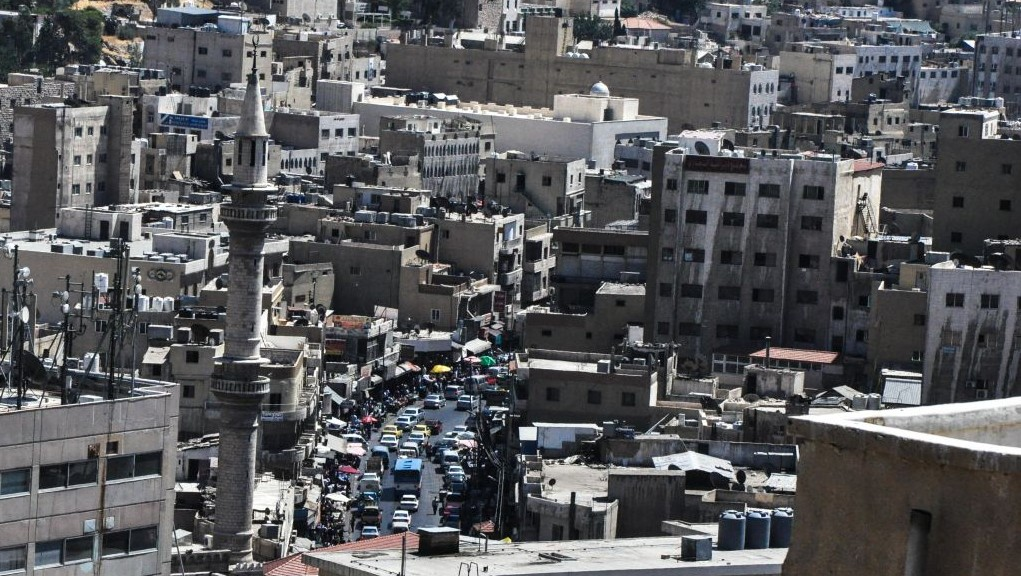 A view of downtown Amman on Friday, Islam's holy day of the week (photo credit: Michal Shmulovich/Times of Israel)