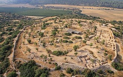 Khirbet Qeiyafa, where some archaeologists believe King David built his palace (photo credit: courtesy/ Israel Antiquities Authority)