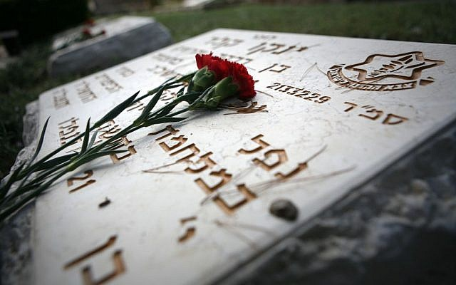 The Mount Herzl grave of an Israeli soldier killed during the 1973 Yom Kippur War. (photo credit: Michal Fattal/Flash90)