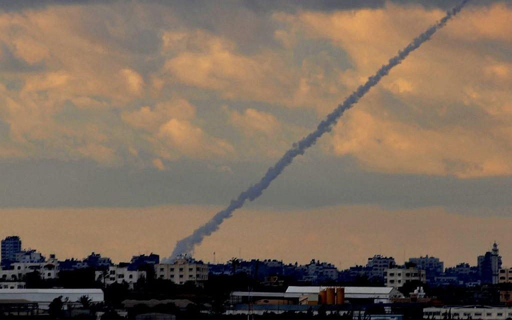 Illustrative photo of a Grad rocket being fired.(Jorge Novominsky/Flash90/File)