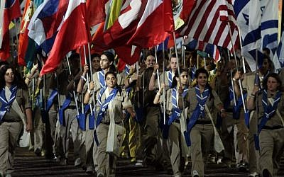 The opening ceremony of the 18th Maccabiah, Ramat Gan stadium, July 13, 2009. (Photo credit: Uri Lenz/ FLASH90)