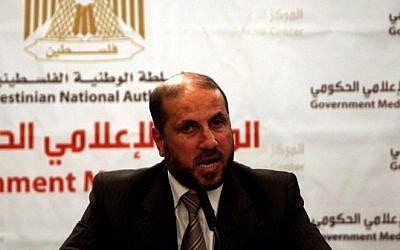 Palestinian Religious Endowments Minister Mahmoud Habbash (photo credit: Issam Rimawi/Flash90)
