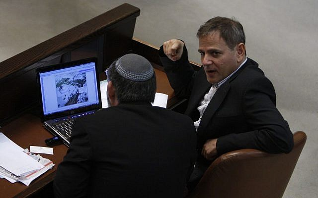 Knesset members using a computer in 2009. (photo credit: Miriam Alster/Flash90)