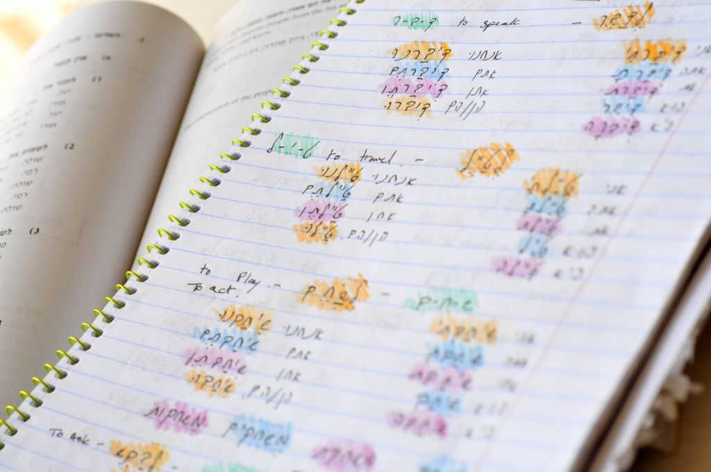 The ulpan student's notebook (photo credit: Sophie Gordon/Flash 90)