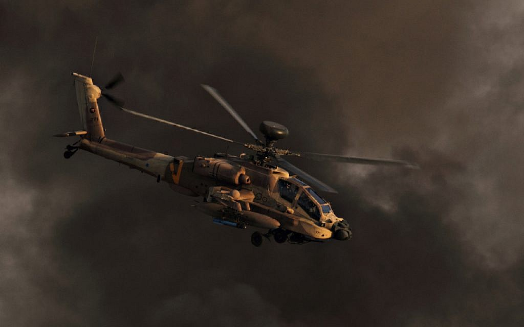 Illustrative photo of an Apache helicopter (photo credit: Ofer Zidon/Flash90)