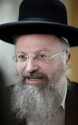 Rabbi Shmuel Eliyahu, January 19, 2012. (photo credit: Uri Lenz/FLASH90)