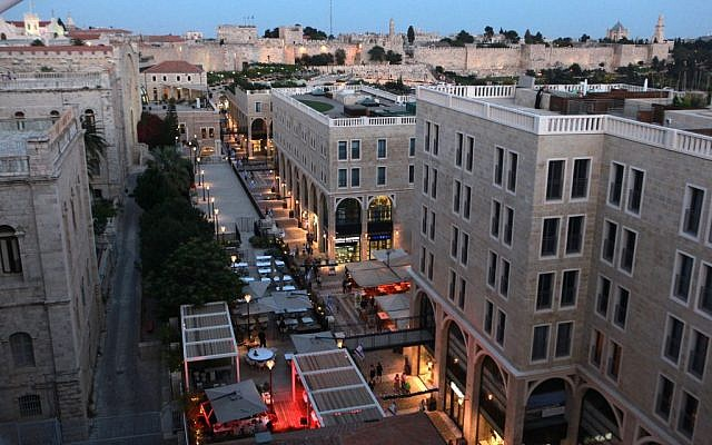 File: A view of the walls of the Old City and the Mamilla shopping mall (photo credit: Yossi Zamir/Flash 90)