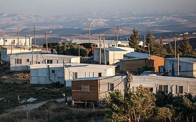 Amona, the largest outpost in the West Bank, which was established in 1997. (Noam Moskowitz/Flash90, File)