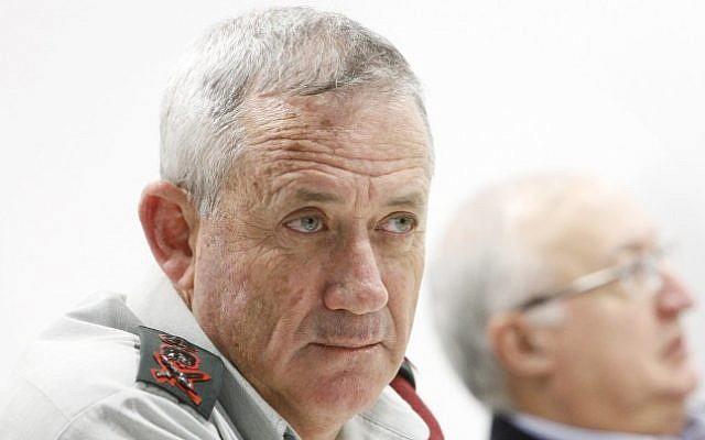 IDF Chief of Staff Benny Gantz (photo credit: Miriam Alster/FLASH90)