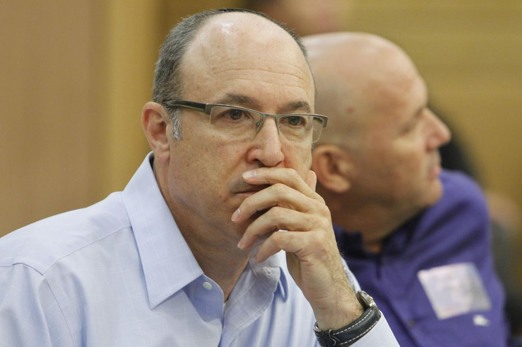 Alan Gelman, the recently hired chief financial officer of Better Place, seen at an Economic Affairs committee meeting in the Knesset (photo credit: Miriam Alster/Flash 90)