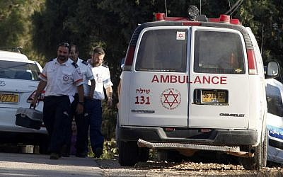 Israeli paramedics (photo credit: Flash90)