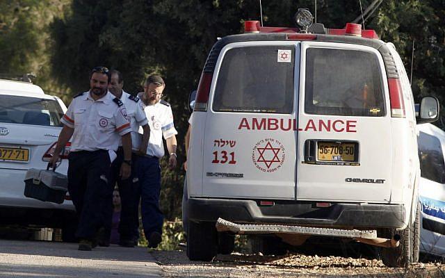 Israeli paramedics (photo credit: Flash90)