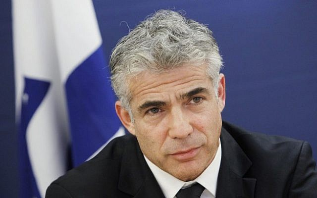 Finance Minister Yair Lapid in Jerusalem. July 15, 2013. (photo credit: Miriam Alster/FLASH90)
