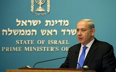 Prime Minister Benjamin Netanyahu at his offic ein Jerusalem (photo credit: Avi Ohayon/GPO/Flash90)