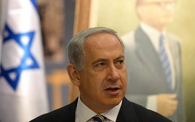 Prime Minister Benjamin Netanyahu in Jerusalem, on Sunday, July 21 (photo credit: Amos Ben Gershom/Flash90
