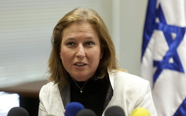 Justice Minister Tzipi Livni in Jerusalem, July 22, 2013 (photo credit: Flash90)