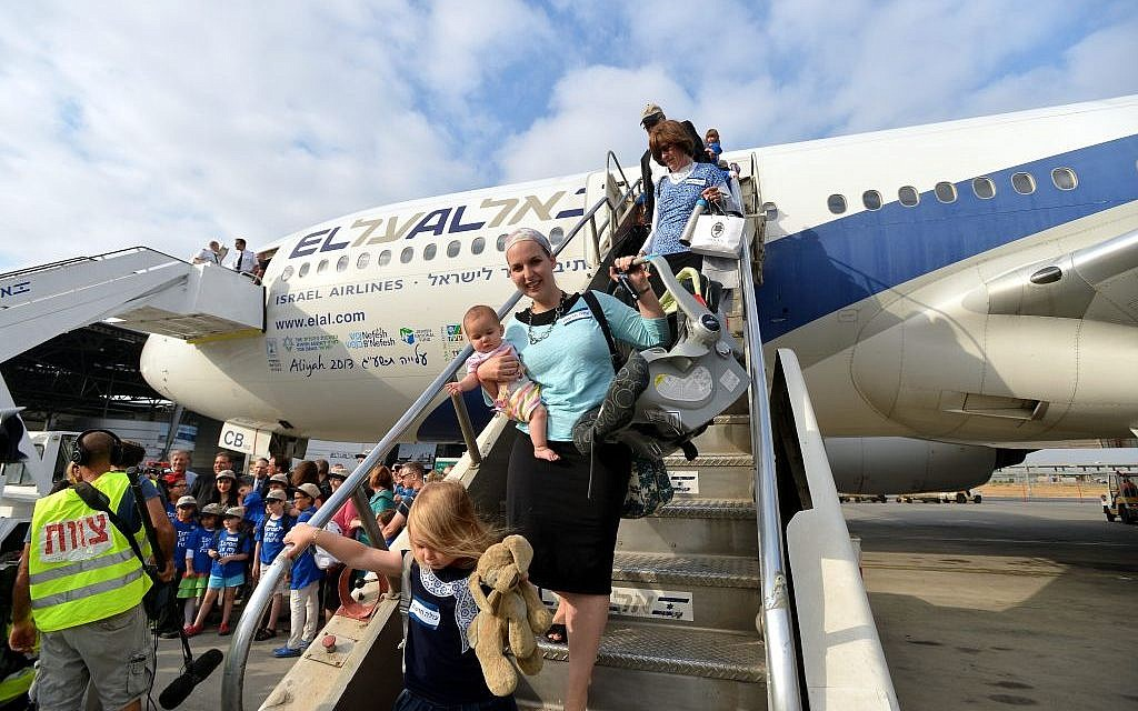 New immigrnats arriving in Israel on Tuesday. (photo credit: Yossi Zeliger/ Flash90)
