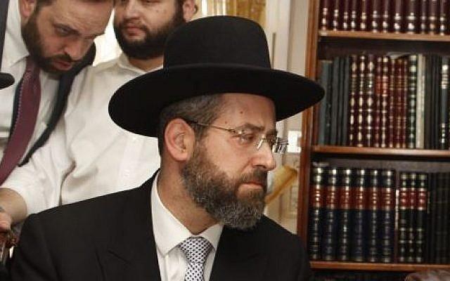 Ashkenazi Chief Rabbi David Lau. (Flash90)