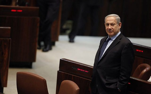 Prime Minister Benjamin Netanyahu in the Knesset, July 2013. (photo credit: Flash90)