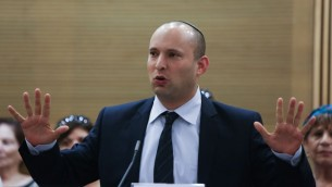 Economics Minister and Jewish Home party head Naftali Bennett (photo credit: Yonatan Sindel/Flash90).