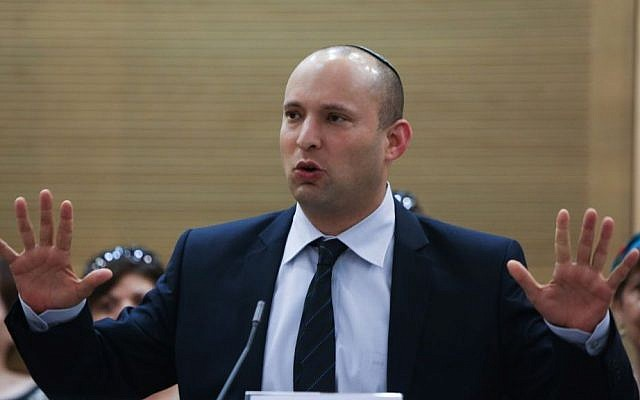 Economy Minister and Jewish Home chairman Naftali Bennett (photo credit: Yonatan Sindel/Flash90).