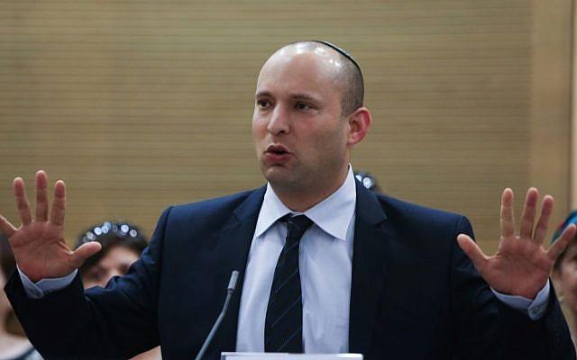 Economy Minister and Jewish Home chairman Naftali Bennett (photo credit: Yonatan Sindel/Flash90).