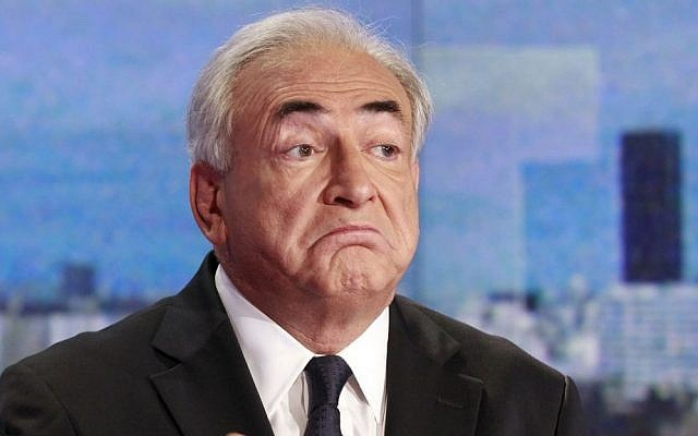 Dominique Strauss-Kahn, former head of the International Monetary Fund (photo credit: AP Photo/Francois Guillot, Pool, File)