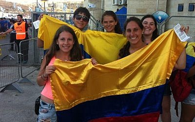File: High schoolers from Columbia at the 19th Maccabiah (photo credit: Aaron Kalman)