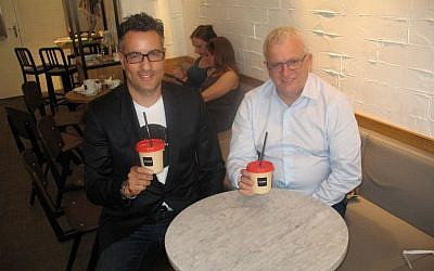 Shay Cohen and Mashiach. (photo credit: Nissan Tsur/Times of Israel)