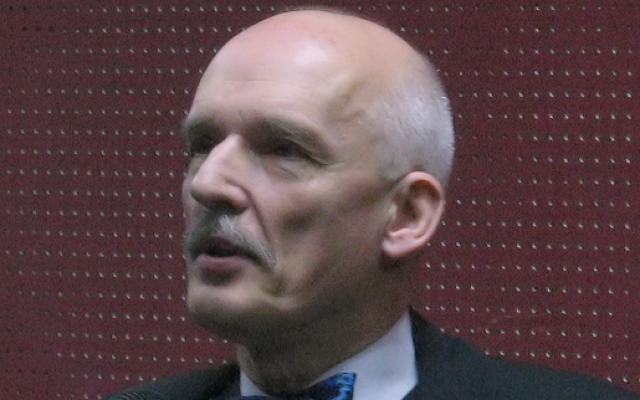 Janusz Korwin-Mikke (photo credit: Moylek/Wikipedia)