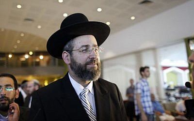 File: Ashkenazi chief rabbi David Lau, July 24, 2013. (photo credit: Flash90/Yonatan Sindel)
